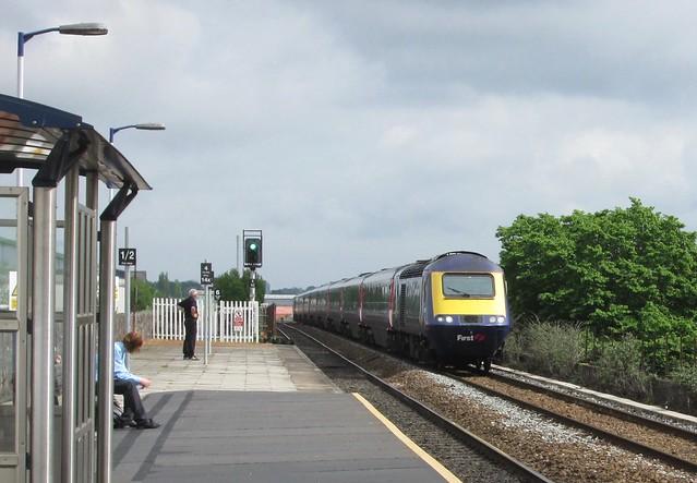 Unid GWR HST through Exeter St Thomas