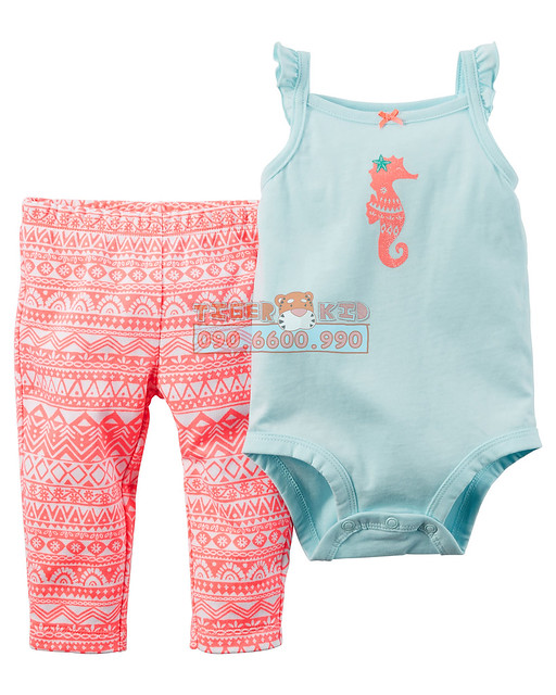 Quần áo trẻ em, bodysuit, Carter, đầm bé gái cao cấp, quần áo trẻ em nhập khẩu, Bộ set Carter's nhập Mỹ 24M