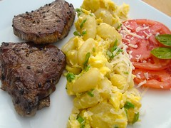 BEEF MEDALLIONS, GNOCCHI AND TRUFFLED EGGS