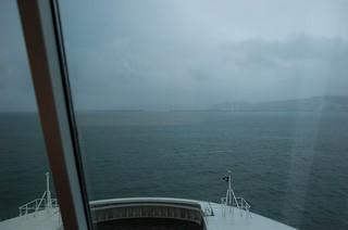 Arrivée au terminal ferry de Dover