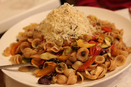 Orichiette with Grilled Vegetables and Parmigiano-Reggiano