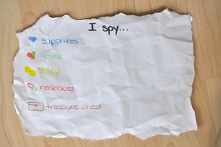 I Spy map Pirate Sensory Bin