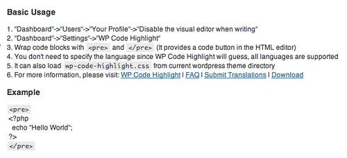 WP Code Highlight