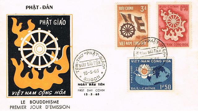 Vietnam Stamp FDC 15-5-1965. Le Bouddhisme