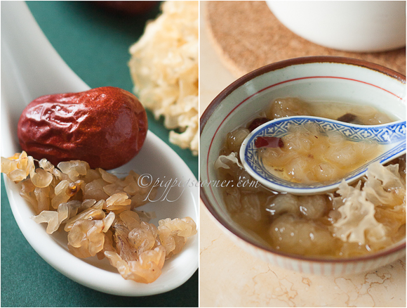 Hasma with Red Dates and White Fungus 红枣雪耳炖雪蛤