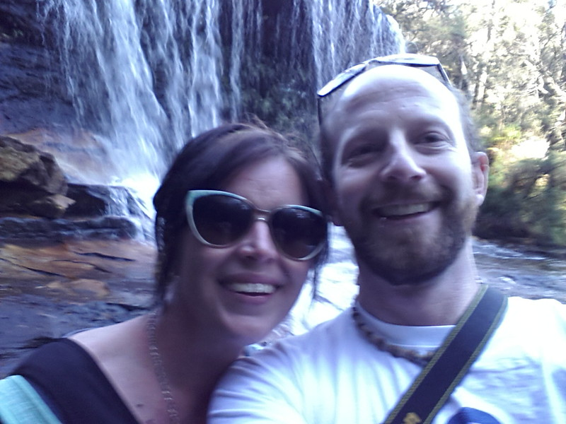 Lori & Neil at Weeping Rock (above Wentworth Falls)