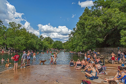Barton Springs below the pool