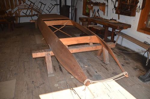 Kahnbauwerkstatt im Freilandmuseum Lehde