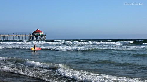 ocean california ca blue sea summer vacation sky sun water relax pier sand surf waves surfer huntington surfing socal huntingtonbeach hb usopen mygearandme vanssurfopen