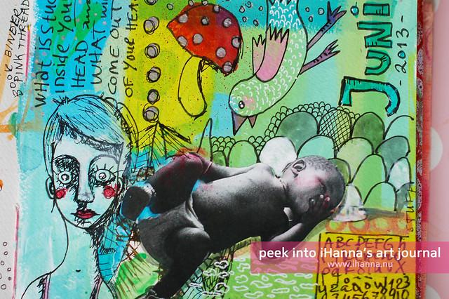 Art Journal Detail: Juni doodles