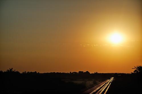 sunset cyclepath cambridgeshire settingsun guidedbusway
