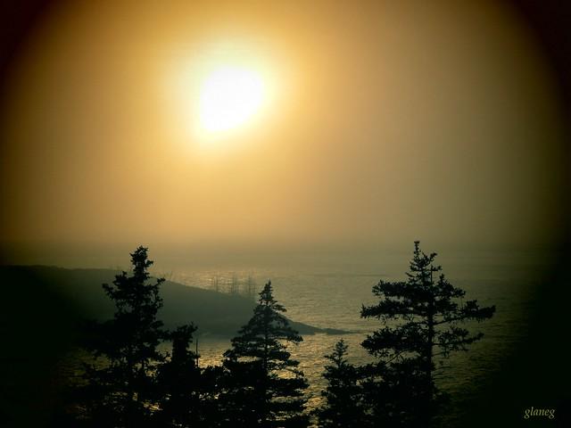 Fog Lifting at Sunset, Canon POWERSHOT N