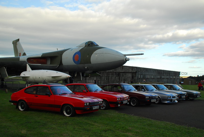 Capri Club Scotland and Vulcan bomber at East Fortune