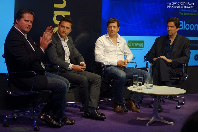 Robert Harles Global Head of Social Media Bloomberg @robharles  Cynan Rhodes Co-Founder FSwire.com @CynanRhodes Oli Freeling-Wilkinson Co-founder/CEO Knowsis @O_Wilkinson Jon Vollmaere Co Founder LetsTalkFX @LetsTalkFX_  #smwfintech _DSC2982