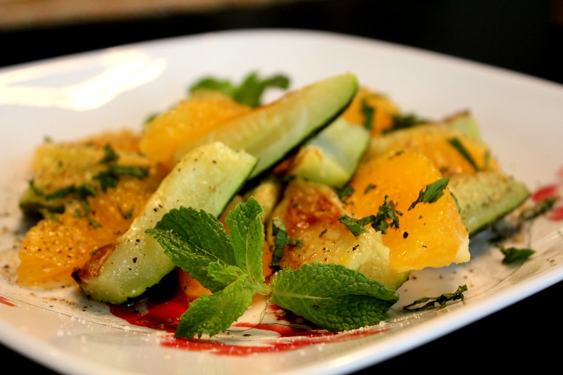 zucchini and orange salad