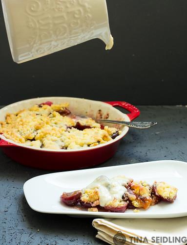 Zwetschgen Crumble mit Mandeln by Lunchforone