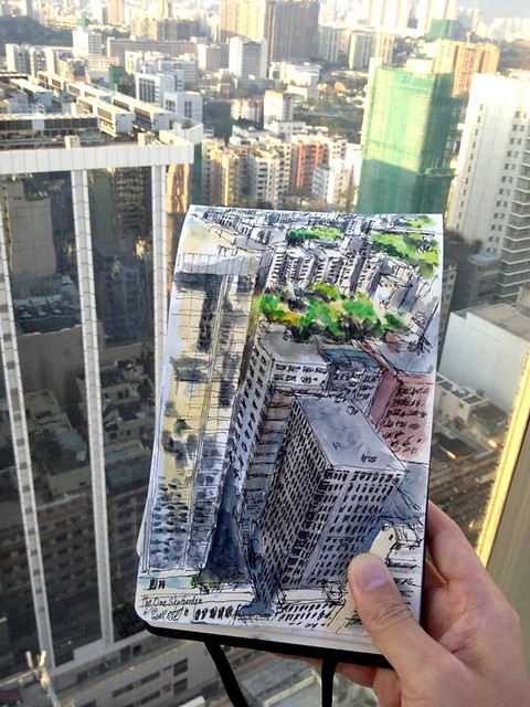 Sketching the Cityscape on the 16th Floor