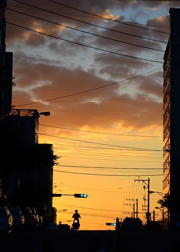 sunset dusk korea budan