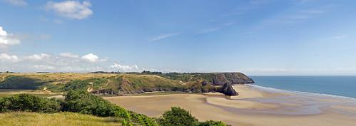 summer beach wales landscape interestingness nikon holidays cliffs threecliffsbay explored d5000 britainsfavouriteview dubhard wewouldstillvoteforlochcoruisk whichviewwouldyouvotefor