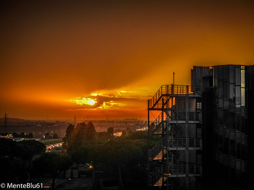 Sunset from my work by menteblu61