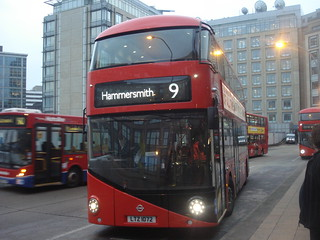 London United LT72 (LTZ1072) on Route 9, Hammersmith