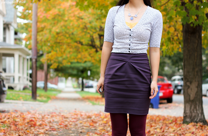 origami pleat pencil skirt