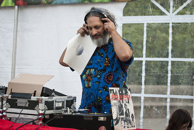 DJ Rob Weisberg, host of WFMU's Transpacific Sound Paradise. Photo by Mike Ratliff.
