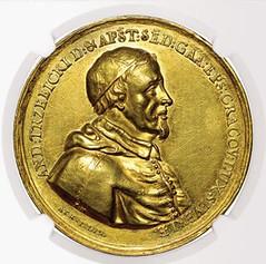 1677 Andrezj Trzebicki ducat obverse