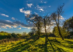 Late afternoon sun at Thurnham Castle