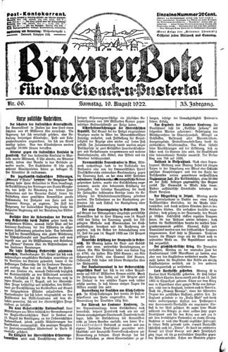 Historic newspaper Friedrich Tessmann Library