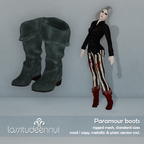 lassitude & ennui Paramour boots