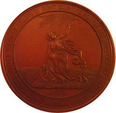 1876 Centennial commemorative medal reverse
