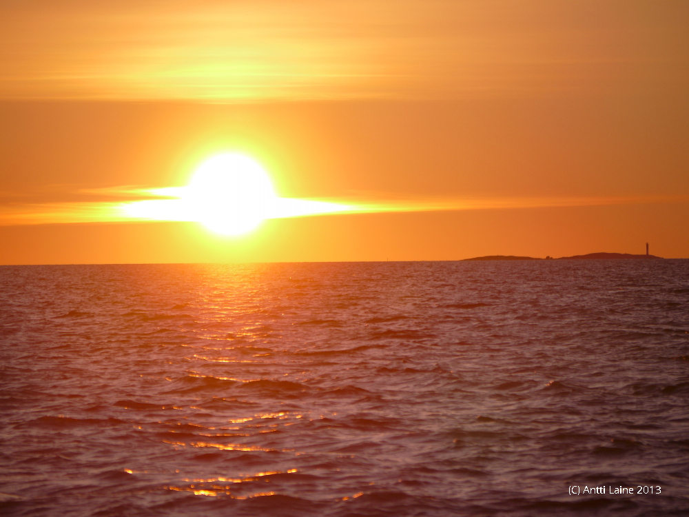 Sunset in Bothnian Sea