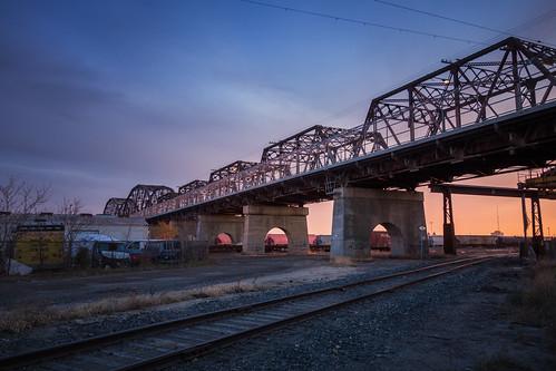bridge canada architecture sunrise industrial winnipeg manitoba