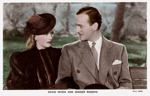 David Niven and Ginger Rodgers in Bachelor Mother