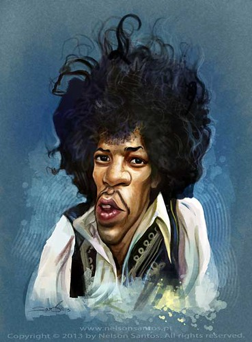 jimmi-hendrix by caricaturas