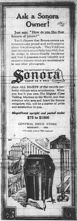 Ad for Sonora phonograph