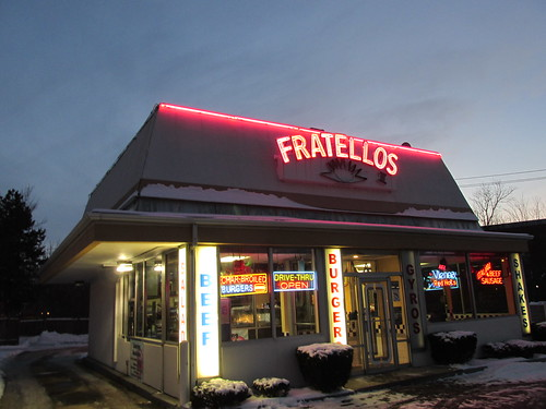 Fratello's Hot Dogs on Kirchoff Road.  Rolling Meadows Illinois.  Monday, December 9th, 2013. by Eddie from Chicago