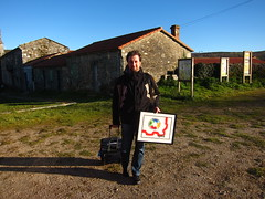 Returning home from the Summit with my present from the rest of the Igalians by Andrés Gómez on 19/12/2013