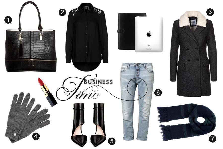 Lifestyle business outfit ootd look arbeit job heels black white ipad chanel jeans vero moda zalando gutschein gutscheine aktion schal CATS & DOGS fashion blog Berlin