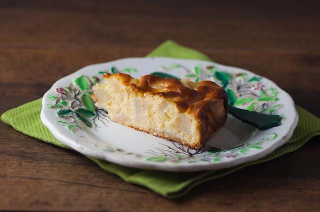 torta con farina di farro e pere