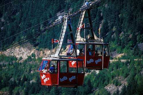 Hell's Gate Airtram over Fraser Canyon, Boston Bar, British Columbia, Canada
