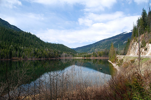 Griffin Lake near Malakwa, Eagle Valley, Shuswap, British Columbia, Canada
