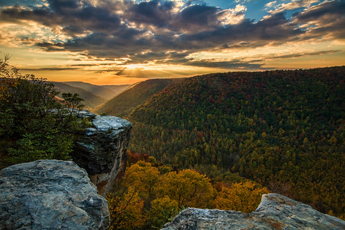 autumn sunset westvirginia blackwaterfallsstatepark lindypoint blackwatercanyon