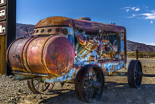 "Old Air Compressor on the road to ""Death Valley"" USA"