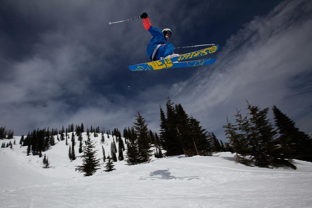 Portret freestyle skier, Fernie Canada, 2010