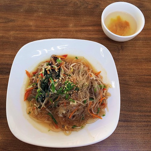 Vegetarian Korean Sweet Potato Noodle Japchae
