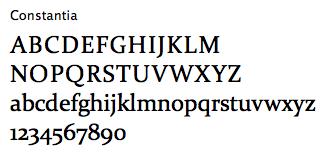 Font Sample - Constantia