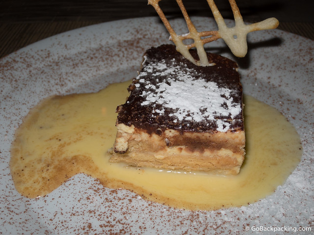 The Tiramisu is the most popular dessert
