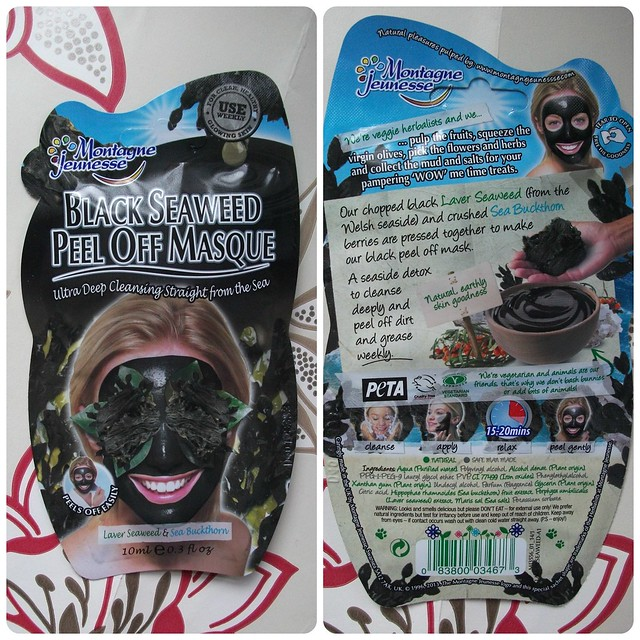 Montagne Jeunesse Black Seaweed Peel Off Mask Review